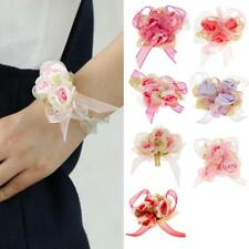 Wrist Corsage Bracelet Flowers Bride Flower Girl Bridesmaid Bangle Wedding Party