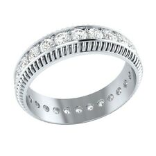 1.04 ct Real Certified Diamond Solid Gold Full Eternity Wedding Band Ring Size 7