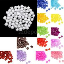 100pcs 10mm Multicolor Square Acrylic Faceted Loose Spacer Beads Women Jewelry