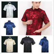 Chinese Traditional Style Men's Summer Casual Kung Fu Shirt Tops M L XL XXL 3XL