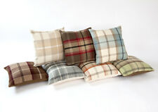 Luxury Highland Mist Tartan  Cushions 16.5x16.5 inches with Feather Filled Pad