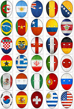 FOOTBALL WORLD / EURO CUP FLAG FACE MASK (CARD) - DO IT YOURSELF (DIY) 2016