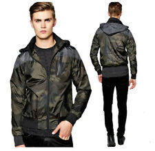 NEW MENS HOODED JACKET BRAVE SOUL FELIX CAMOUFLAGE SUMMER ZIP UP BOMBER COAT