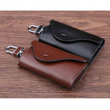 Genuine Leather Key Chain Case Car Key Holder Purse Bag for Keychains