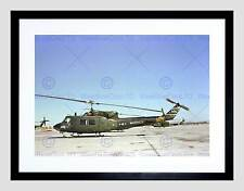 MILITARY AIR CRAFT CHOPPER MARINE BELL UH1N HUEY HELICOPTER ART PRINT B12X7607