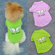 Vogue Pet Puppy Dog Clothes Angel Wing Stylish T-shirt Shirt Coat Tops Clothing