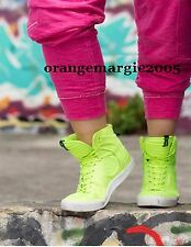 Zumba Street Classic HIGH TOP SHOES TRAINERS Green Yellow RARE! Convention 6,7,8