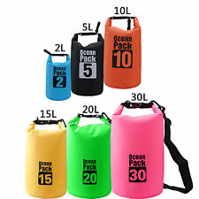 2L 5L 10L 15L 20L 30L Waterproof Dry Bag Colorful Pack Water Sports Beach Camp