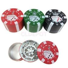 Fashion 3 Layers Poker Casino Chips Shaped Metal Tobacco Herb Grinder Multicolor