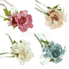 Bride Bridesmaid Wrist Corsage Penoy Bracelet Flower Wedding Party Decor