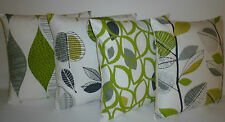 "16"" Lime Green Cushion Cover Funky 3 Patterns to choose from ONE"