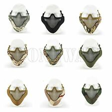 Protective Tactical Paintball CS Airsoft Half Face Mask Metal Mesh Adjustable