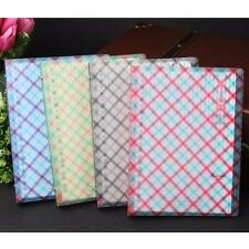 A5 Loose Leaf Plastic Cover Grid Notebook Ruled Diary Journal Note Book Memo Pad