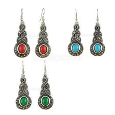 Elegant Vintage BOHO Gemstone Dangle Drop Rhinestone Dangle Ear Stud Earrings