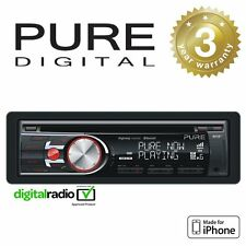 Pure DAB+ Radio Car Head Unit Headunit Stereo CD Player With iPhone Control & Bl