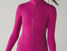 NWT Lululemon Define Jacket Raspberry Pink 4 6 8 10 12 Forme