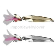 Metal Paillette Spoon Sequins Fishing Lure Treble Hook Feather Bait
