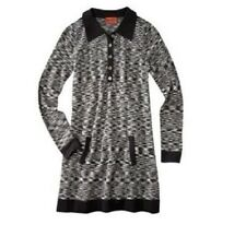 NEW! Authentic Missoni Knit Polo Shirt Dress - Space-Dye Black & Gray