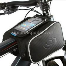 Bike Bicycle Double Handlebar Frame Pannier Front Tube Bag for iPhone 6S/6S Plus
