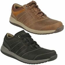 RYLEY STREET MENS CLARKS G FIT LACE UP LEATHER CASUAL OUTDOOR SPORTY SHOES