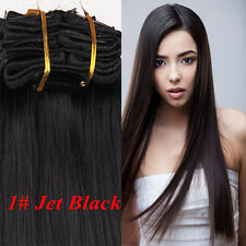 """Full Head Clip in Remy Hair Extensions 100% Real Human Hair  20"""" 24"""" 26"""" 28"""""""