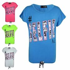 Girls Top #Selfie Print Stylish Fahsion Trendy T Shirt Top New Age 7-13 Years