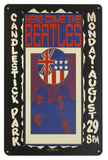 The Beatles HERE COME THE BEATLES Metal Wall Sign Steel Plaque (20cm x 30cm)