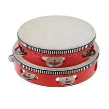 Tambourine Beat Red Drum Round Rings Sheepskin Percussion Kids Toys YOUR CHOICE
