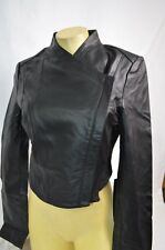 BEBE coat jacket moto zipper leather soft Trapunto Stitch Leather Jacket 200628
