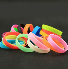 Silicone Rubber Stretchy Sports Cuff Bracelet Bangle Fashion Wristband Band