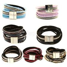 Jewelry fashion Artificial Leather Magnetic Buckle Style Cute Charm Bracelet