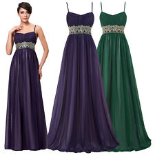 Womens Long Straps Bridesmaid Formal Gown Ball Party Cocktail Evening Prom Dress