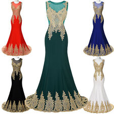 Long Sexy Applique Evening Formal Party Ball Gown Prom Bridesmaid Dress COCKTAIL