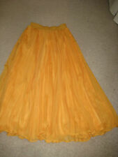 Kelso fully lined yellow pleated chiffon maxi skirt  Size 10