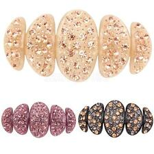 Fashion Acrylic Large Full crystal Rhinestone Bride hair barrette clip Gift