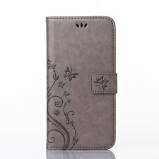 Wallet Case Magnetic Flip Leather Stand Cover Pouch For iPhone Samsung SONY