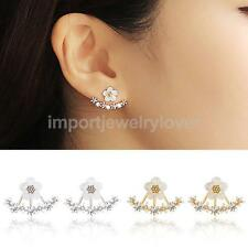 Ladies Fashion Crystal Rhinestone Ear Studs Daisy Flower Earrings (Choose Color)