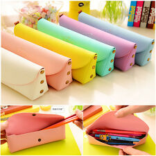 Students Pencil Case Pen Bag Cosmetic Makeup Travel Pouch Pocket Candy Color Hot