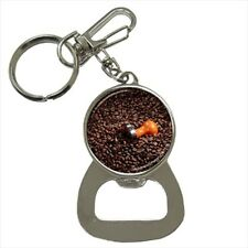 Coffee Bean Roasting Bottle Opener Keychain and Beer Drink Coaster Set