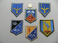 Irish Army, IDF. Signals & Air Defence Unit Patch Badges. 6 types, New.