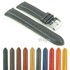 StrapsCo Genuine Leather Padded Watch Strap Band in Many Colors sizes 18mm 20mm