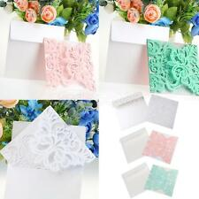 10 Lots Luxury Hollow Laser Cut Effect Wedding Invitation Card DIY Craft Cards