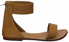 Women shoes sandal ankle strap leather fashion casual Fabrizia Us size 3 to 12