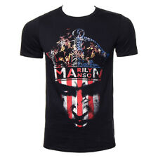 Official T Shirt MARILYN MANSON Black CROWN Print Band Tee All Sizes