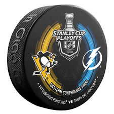 2016 Stanley Cup Playoffs Dueling Puck Tampa Bay Lightning / Pittsburgh Penguins