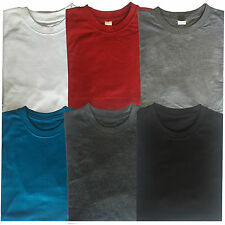 Men's Plain Blank Cotton T Shirt Round Crew Neck T-Shirts Gym Sports Casual Tops
