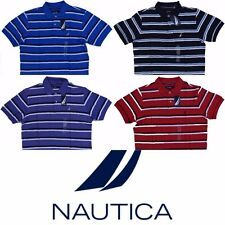 Nautica Men's Striped Anchor Deck Polo Shirt Many Colors Free Shipping ***NWT***