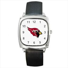 Arizona Cardinals Round & Square Leather Strap Watch - Football NFL