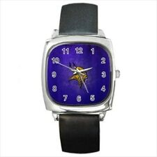 Minnesota Vikings Round & Square Leather Strap Watch - Football NFL