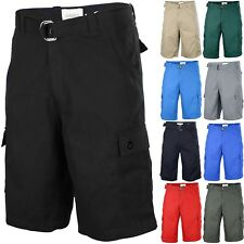 One Tough Brand Mens CLASSIC CARGO SHORTS Belted Cotton Multi Colors Size 30-42